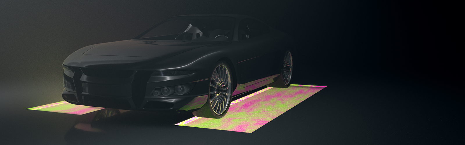 LED Boden Automotive Rendering