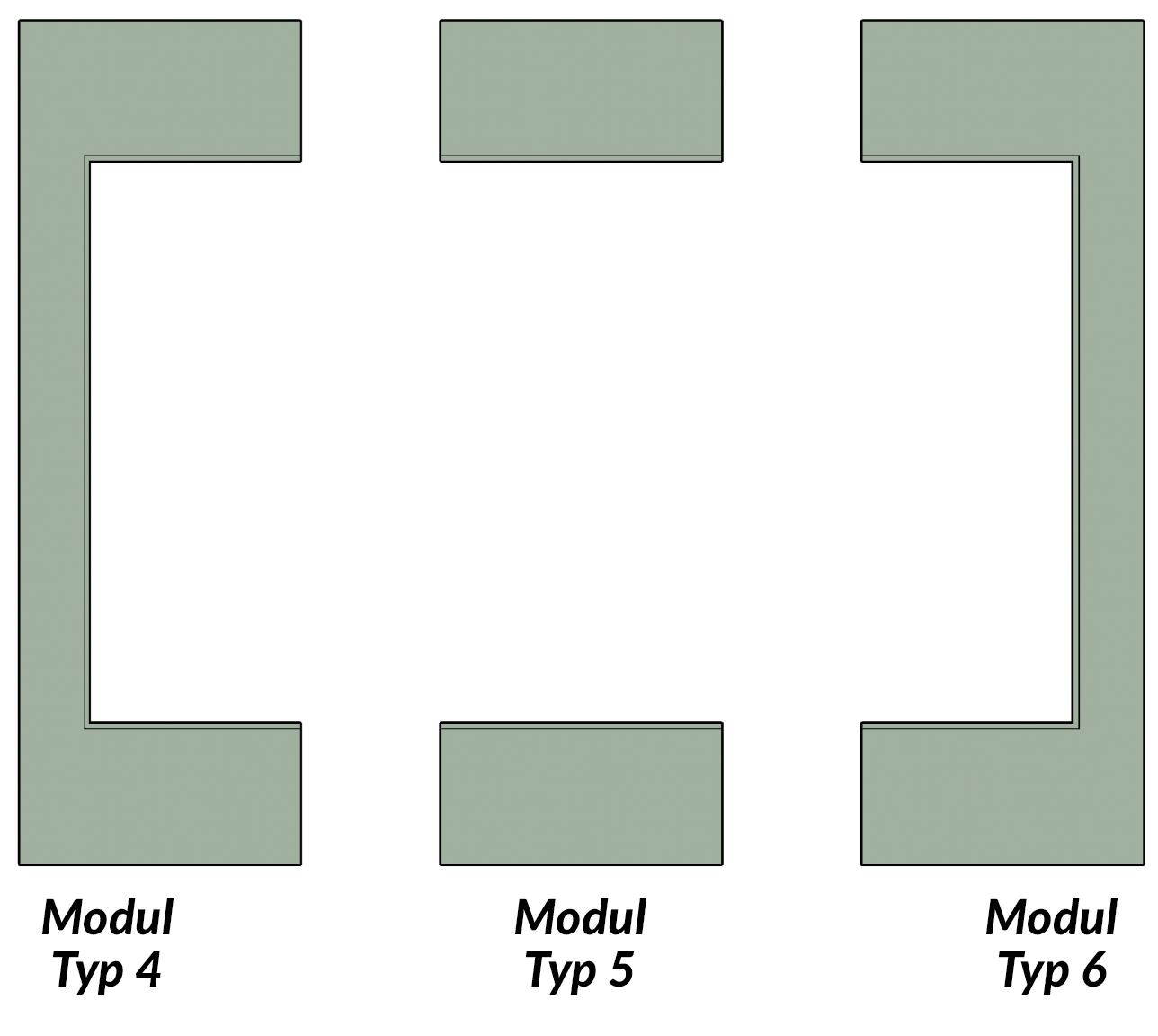Modulares LED System hinter Beton