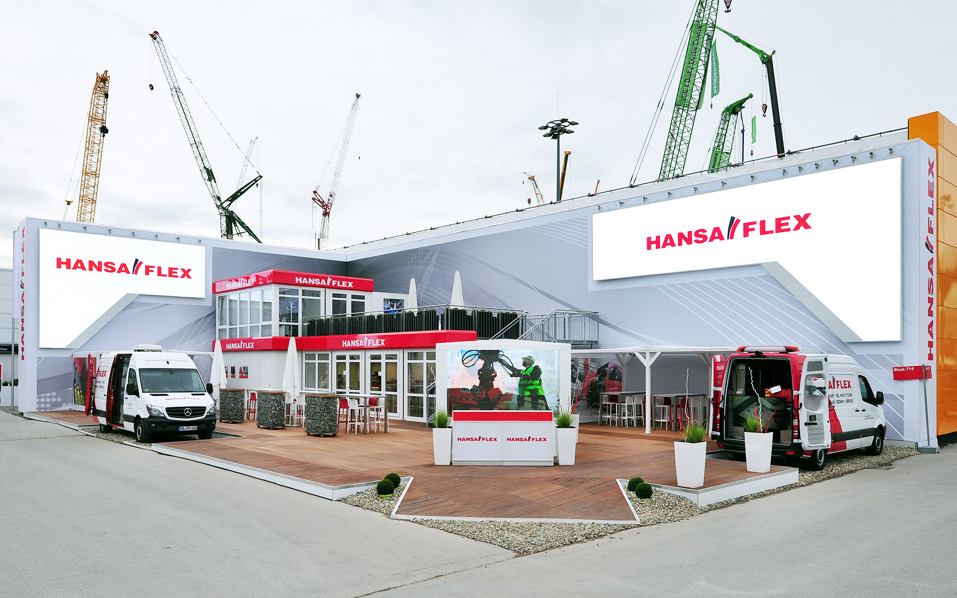 Outdoor LED Hansa-Flex, Bauma / tennagels Medientechnik