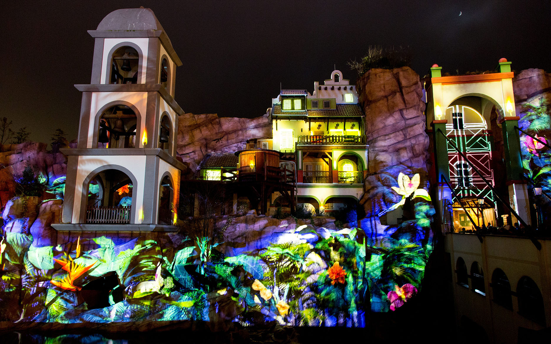 tennagels Projection Mapping XXL Phantasialand