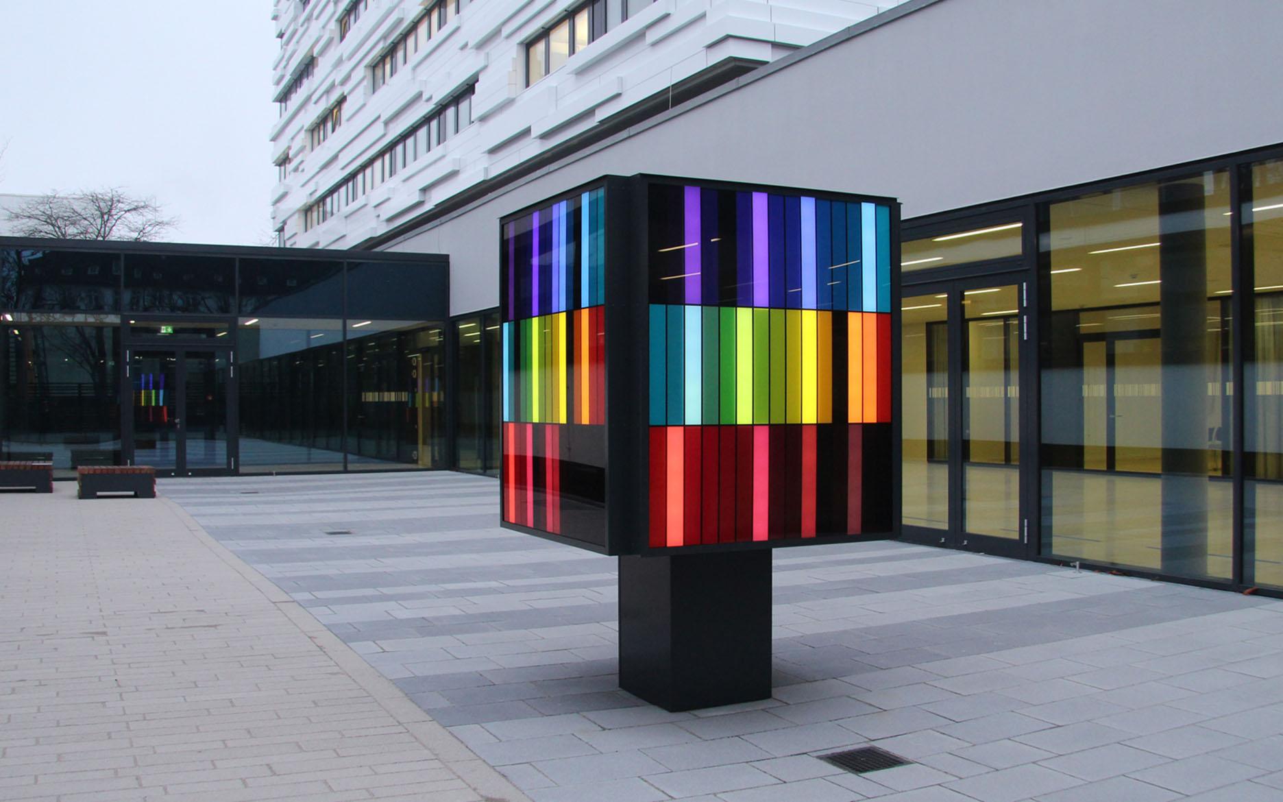 """""""Synästhetischer Raumkörper"""", LED-Kubus"""