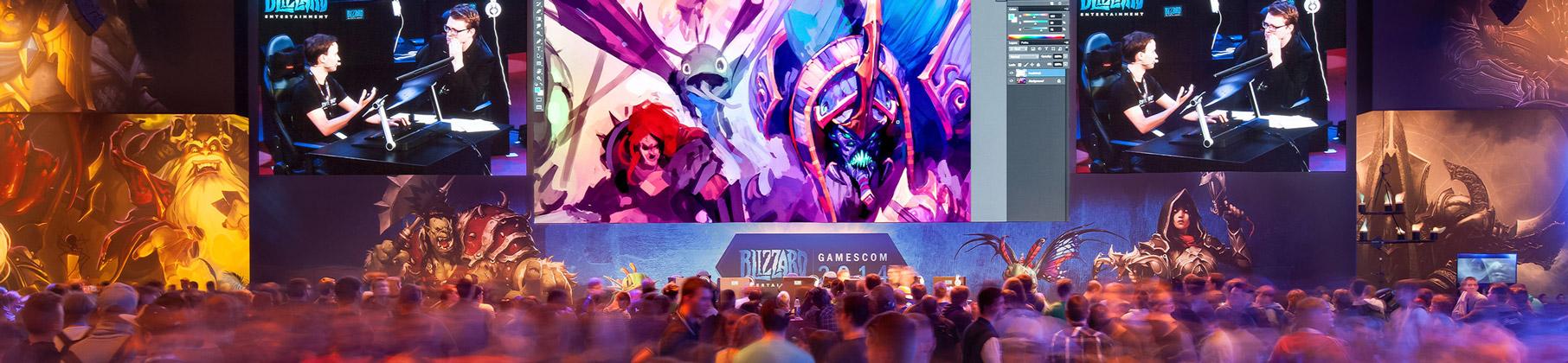LED Wand mieten, gamescom 2014, activision