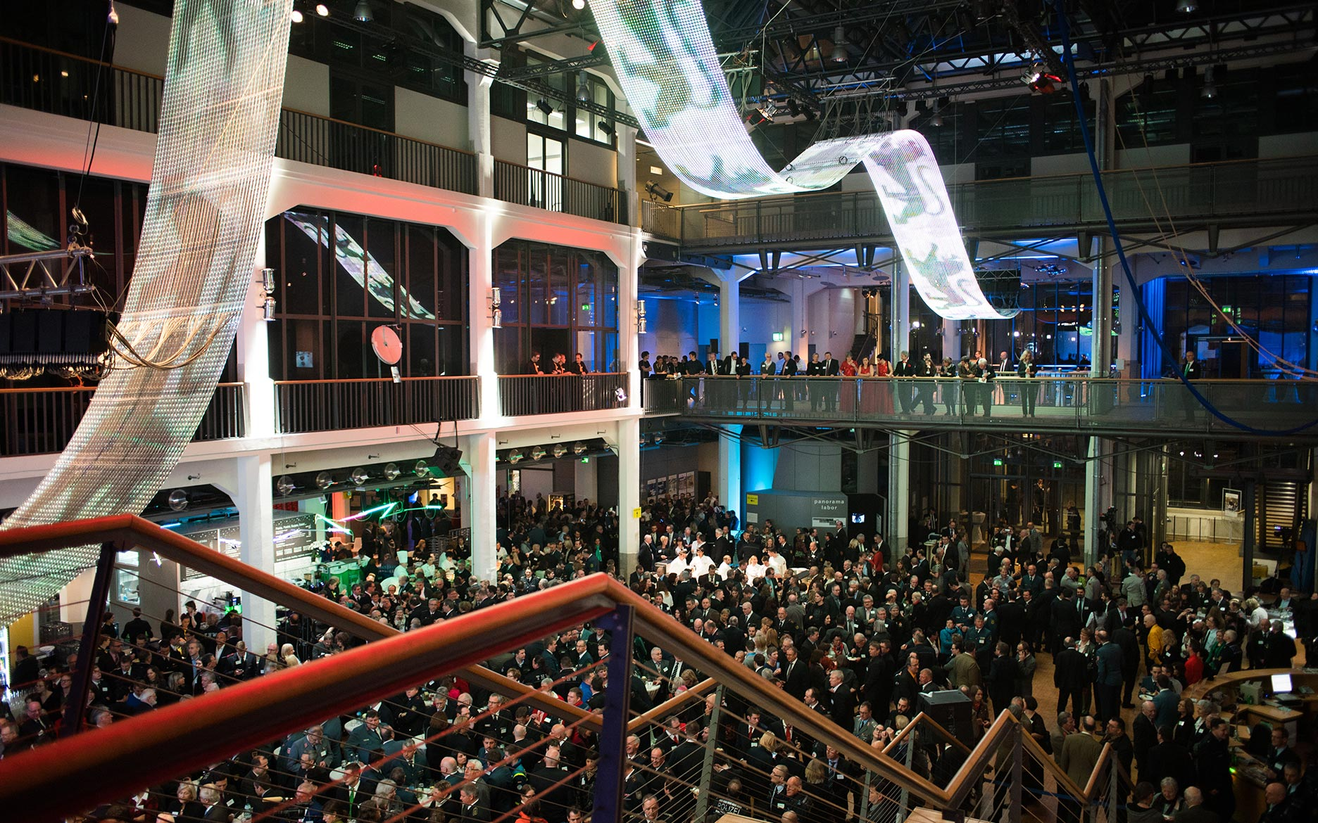ZKM Karlsruhe, Neujahrsempfang 2016, LED-Welle